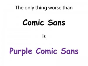 Death to Comic Sans!