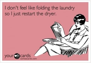 folding laundry ecard