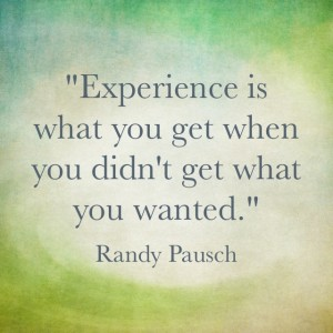 Quotable: Randy Pausch on Experience