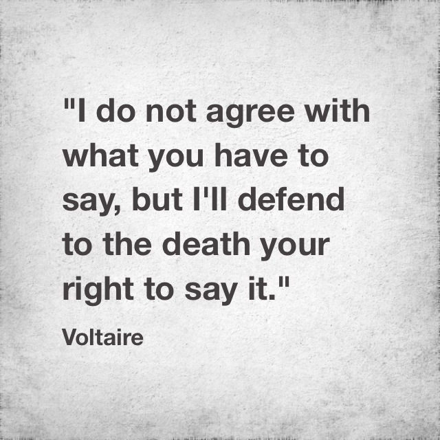 Quotable: Voltaire On Free Expression