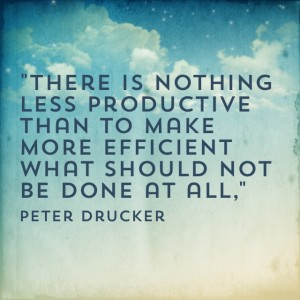Quotable: Peter Drucker on Productivity