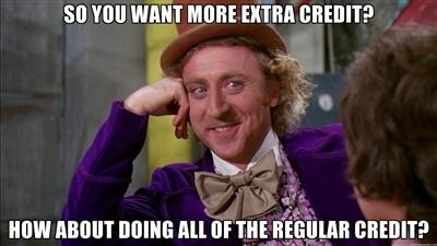extra credit meme