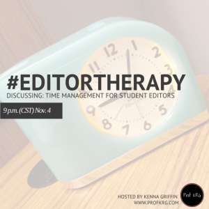 Lessons from #EditorTherapy on Time Management
