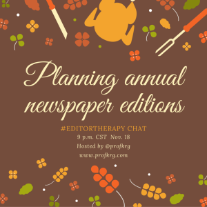Lessons from #EditorTherapy on Planning Annual Editions