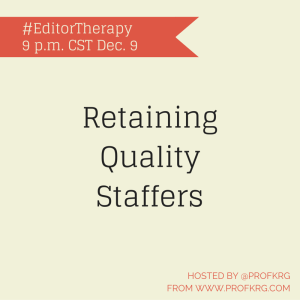 Lessons from #EditorTherapy on Staff Retention