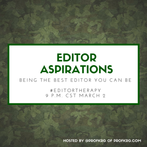 Lessons from #EditorTherapy on Editor Aspirations
