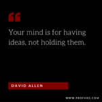Quotable: David Allen on Productivity