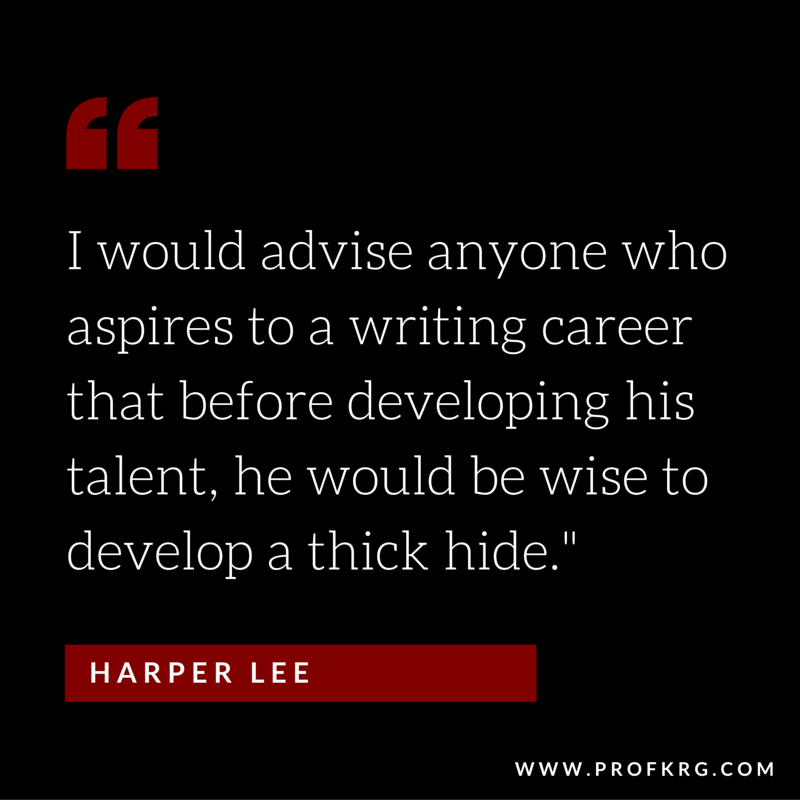 Harper Lee on writing