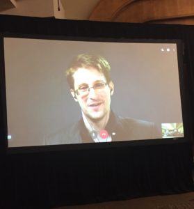 Snowden Leaves Students in Awe