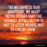 Quotable: Kennedy on Gratitude
