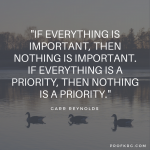 Quotable: Garr Reynolds on Priorities