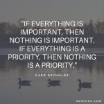 Quotable: Garr Reynolds on Priorities