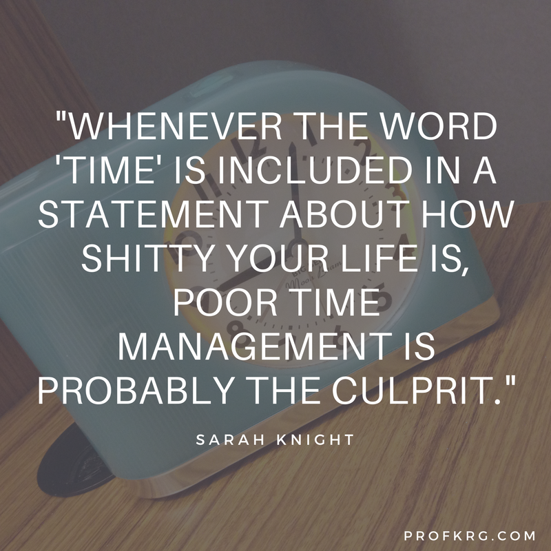 Time Management Quote: Quotable: Sarah Knight On Time Management