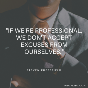 Quotable: Steven Pressfield on Professionalism