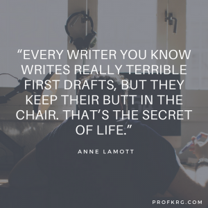 Quotable: Anne Lamott on Terrible First Drafts