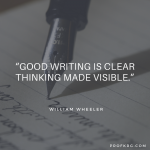 Quotable: William Wheeler on Writing